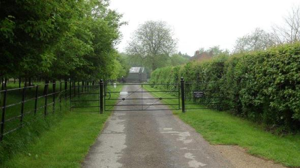 This gate had to be legally authorised whilst the process of diverting the bridleway off the driveway was completed
